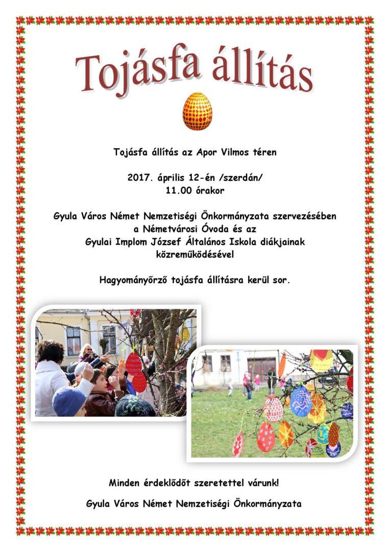2017 tojásfa állítás plakát